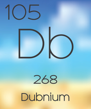 periodic table: The Periodic Table of the Elements Dubnium Stock Photo