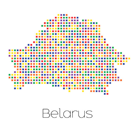 trans gender: A Map of the country of Belarus