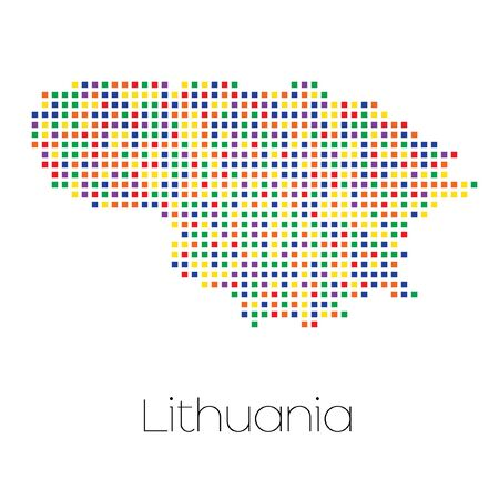 trans gender: A Map of the country of Lithuania