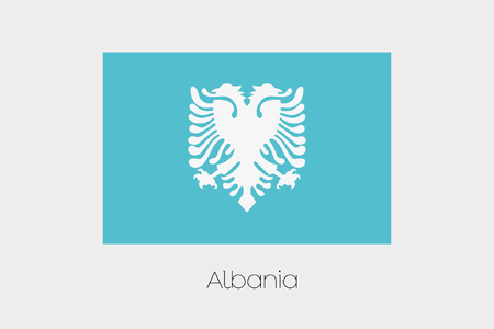 inverted: An Inverted Flag of  Albania