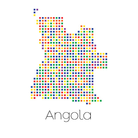 trans gender: A Map of the country of Angola Stock Photo