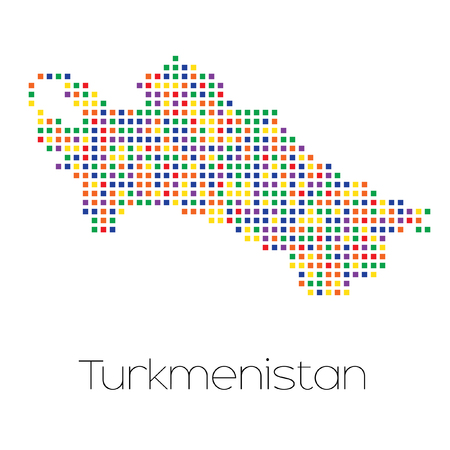 trans gender: A Map of the country of Turkmenistan Stock Photo