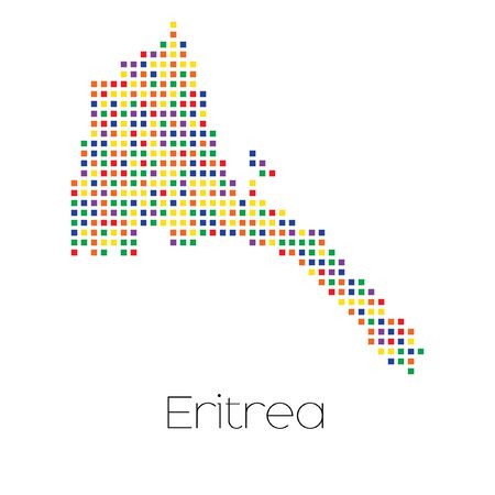 trans gender: A Map of the country of Eritrea