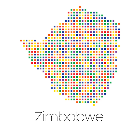 trans gender: A Map of the country of Zimbabwe