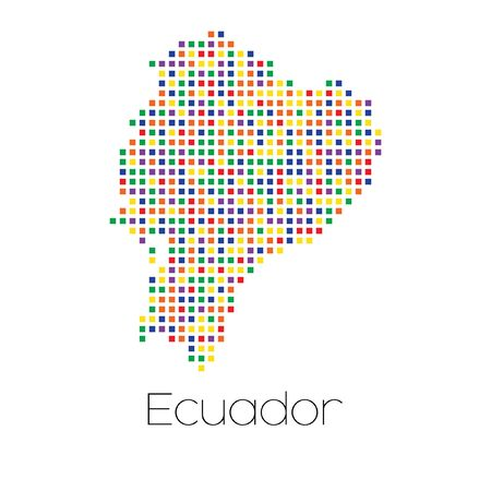 trans gender: A Map of the country of Ecuador