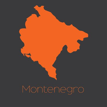 A Map of the country of Montenegro