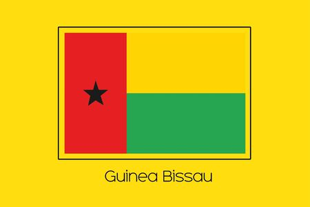 bissau: A Flag Illustration of the country of Guinea Bissau Stock Photo