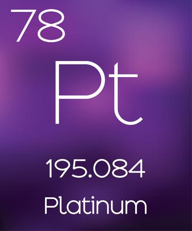 platinum: Purple Background with the Element Platinum