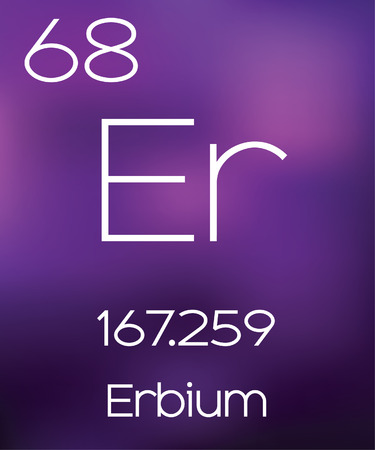 vectorial: Purple Background with the Element Erbium Stock Photo
