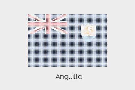 anguilla: A Mosaic Flag Illustration of the country of Anguilla