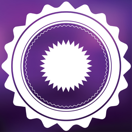 spikey: A Retro Icon Isolated on a Purple Background - Spikey Circle Stock Photo