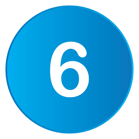 six web website: A White Icon Isolated on a Blue Button - 6