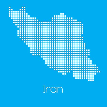 iran mosaic: A Map of the country of Iran Stock Photo