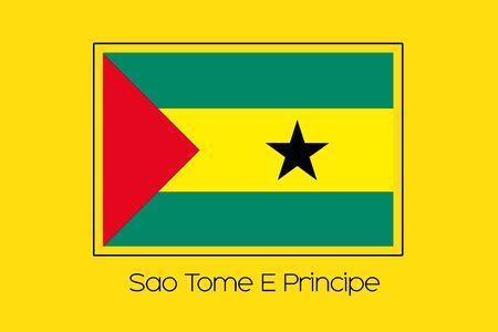 principe: A Flag Illustration of the country of Sao Tome E Principe