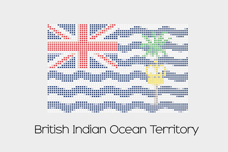 indian ocean: A Mosaic Flag Illustration of the country of British Indian Ocean Territory