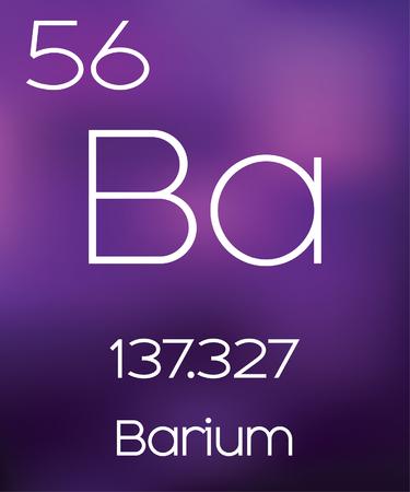 barium: Purple Background with the Element Barium