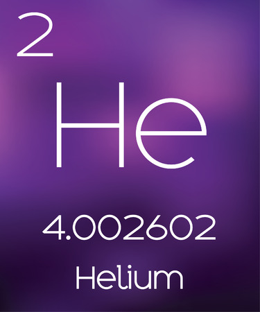 helium: Purple Background with the Element Helium