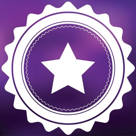 pointed: A Retro Icon Isolated on a Purple Background - 5 Pointed Star