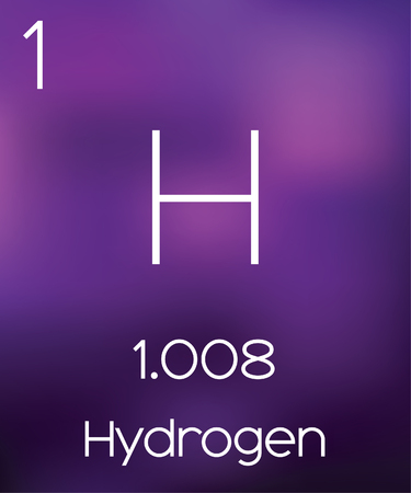 Purple Background with the Element Hydrogen