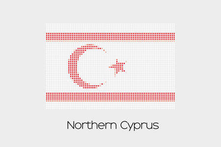 northern: A Mosaic Flag Illustration of the country of Northern Cyprus