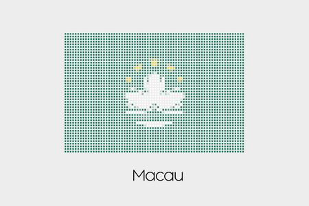 macau: A Mosaic Flag Illustration of the country of Macau Stock Photo