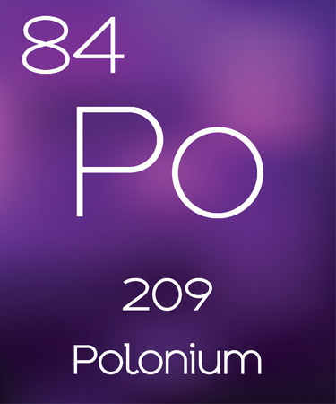 vectorial: Purple Background with the Element Polonium