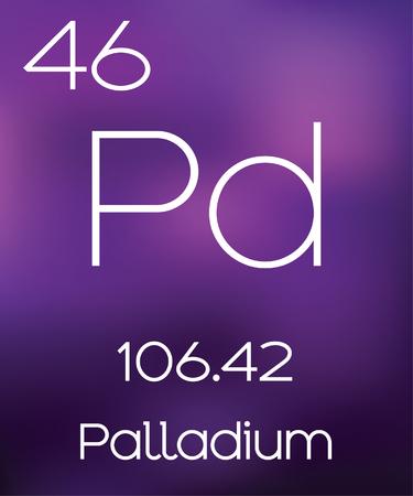 morado: Fondo p�rpura con el Palladium Elemento