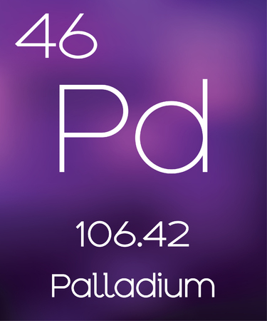 copper background: Purple Background with the Element Palladium Stock Photo