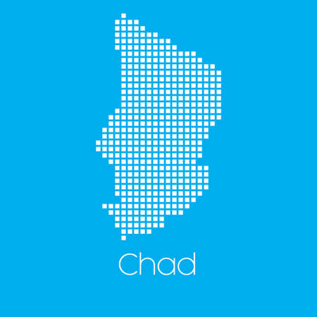 A Map of the country of Chad
