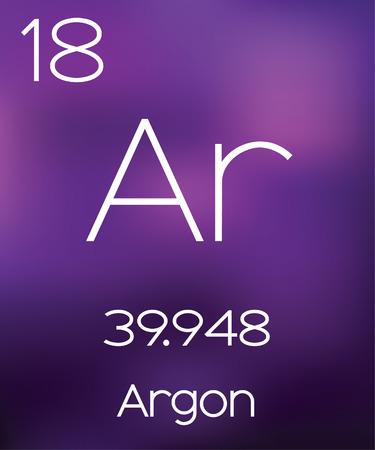 argon: Purple Background with the Element Argon
