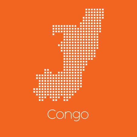 congo: A Map of the country of Congo Stock Photo
