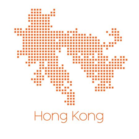 hong kong: A Map of the country of Hong Kong