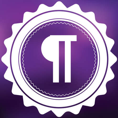 paragraph: A Retro Icon Isolated on a Purple Background - Paragraph