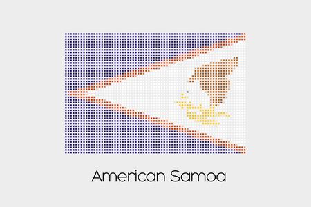 samoa: A Mosaic Flag Illustration of the country of American Samoa