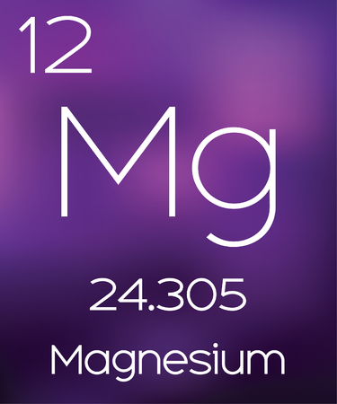 magnesium: Purple Background with the Element Magnesium Stock Photo