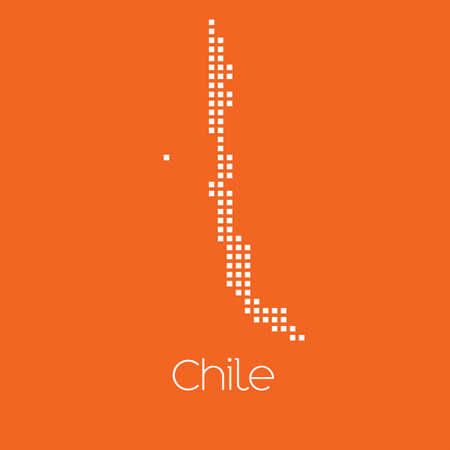 chile: A Map of the country of Chile Stock Photo