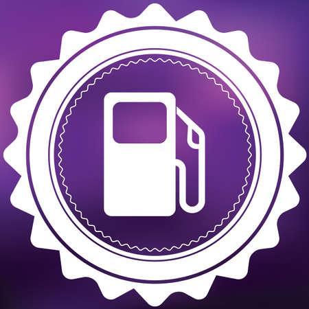surtidor de gasolina: Un icono retro aislado en un fondo p�rpura - bomba de gasolina