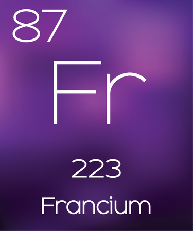 vectorial: Purple Background with the Element Francium