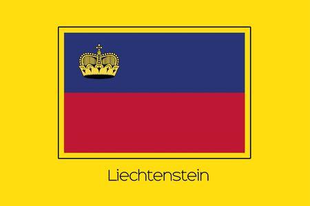 liechtenstein: A Flag Illustration of the country of Liechtenstein