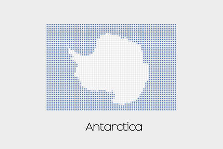 antartica: A Mosaic Flag Illustration of the country of Antartica