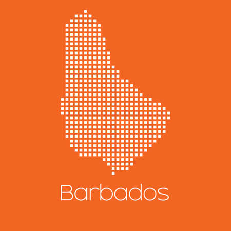 barbados: A Map of the country of Barbados
