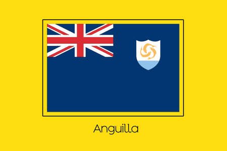anguilla: A Flag Illustration of the country of Anguilla