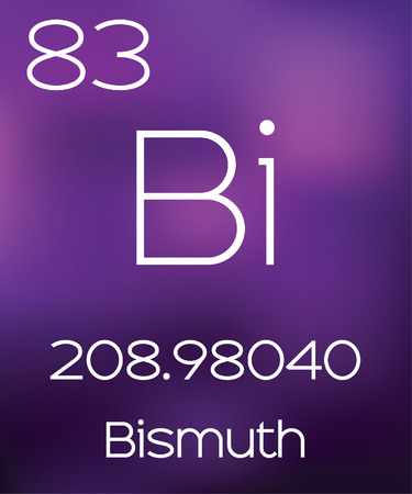 bismuth: Purple Background with the Element Bismuth