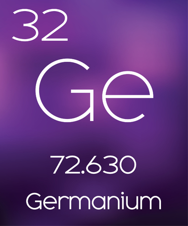 vectorial: Purple Background with the Element Germanium