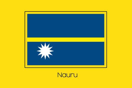 nauru: A Flag Illustration of the country of Nauru