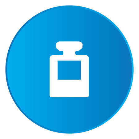inkpot: A White Icon Isolated on a Blue Button - InkPot