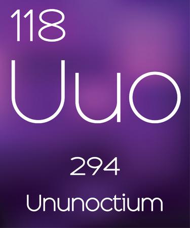 vectorial: Purple Background with the Element Ununoctium