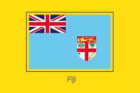 fiji: A Flag Illustration of the country of Fiji