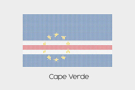 verde: A Mosaic Flag Illustration of the country of Cape Verde