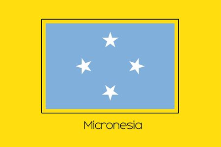 micronesia: A Flag Illustration of the country of Micronesia Stock Photo